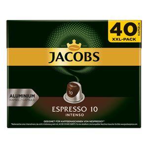 Jacobs Espresso 10 Intenso XXL-Pack | 40 Nespresso® komp. Kapseln