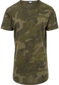 Urban Classics Camo Shaped Long T-Shirt Herren Erwachsene S