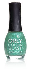 Orly - Color Blast Nagellack, 11 ml, Farbe:Grün, Effekt:Glitters, Typ:Green Flakie Matte Top