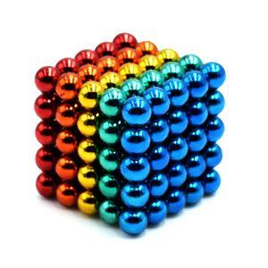 5mm 125 STueCKE 5 Farben Magnetkugeln Magnete Buero Spielzeug Magnetische Skulptur Backyballs Geschenk fuer Intellektuelle Entwicklung Stressabbau Lernspielzeuge【Rot + Blau + Gelb + Mehrfarben】