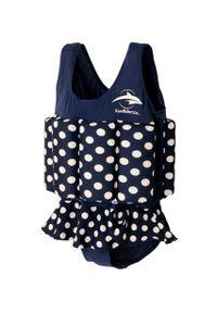 Konfidence Badeanzug Float Suit mit integriertem Auftrieb Navy Polka Dot  Schwimmhilfe für optimale Armfreiheit 4 - 5 Jahre