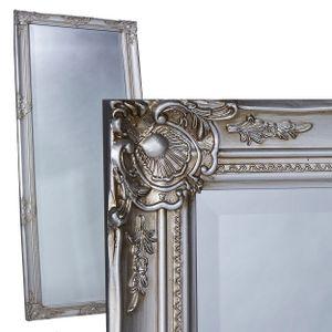 Wandspiegel Spiegel silber 180 x 80 cm antik Barock Facettenschliff Holzrahmen