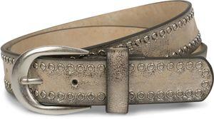 styleBREAKER Nietengürtel mit Lochnieten, Vintage Nieten Gürtel, kürzbar, Unisex 03010080, Farbe:Antik-Gold, Größe:95cm