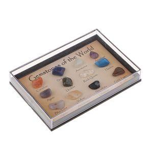 15pcs Natürliche Steine Edelsteine mit Box Set