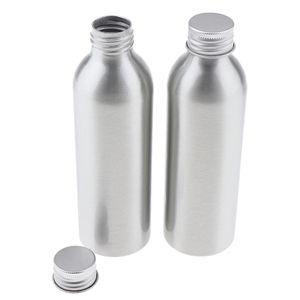 2 Stücke Premium Aluminium Flaschen Aluminiumflasche Behälter für Salon, Reisen, Outdoor, Sport, Zuhause, Küche usw. 150ml Silber Aluminium Wasser Flasche