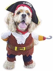 Reizende Katzenkostüm Hunde Haustier Kleidung, HundeKostüm Hundebekleidung Kostüme Kleidung Katze lustiges Kleid Cosplay, S, Farbe1 Pirat