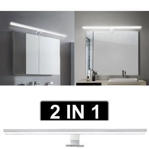 Hengda LED Spiegelleuchte mit Schalter Bad Badleuchte Spiegellampe IP44 Wasserdichte Badlampe Schminklicht fuer Badezimmer 6W Neutralweiss 30CM