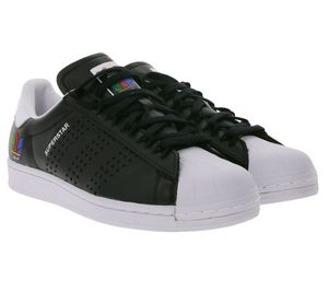 adidas Originals Superstar Turn-Schuhe angesagte Sneaker Schwarz , Größe:42