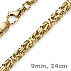 9mm Armband Armkette Königskette aus 585 Gold Gelbgold 24cm Herren