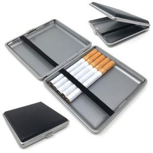 Zigarettenetui für 20 Filterzigaretten Lederoptik Schwarz