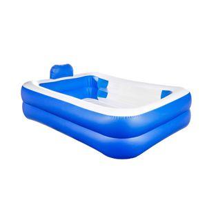 Familien Swimming Kinderpool Pool Planschbecken Schwimmbecken 200 x 150 x 50 cm