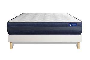 Actilatex tech matratze 180x220cm + Bettgestell mit lattenrost , Härtegrad 5 , Latex und Memory-Schaum , Höhe : 24 cm