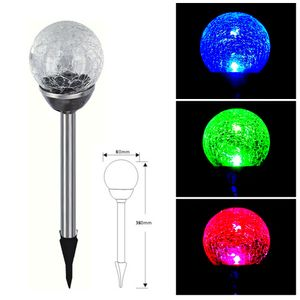 10er Set Edelstahl LED Solar Gartenleuchte Kugel mit Crackle-Licht Solarlampe Solarleuchte Deko Garten Leuchte Lampe