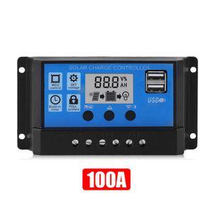 100A DC12/24V  Solar Panel Controller HD LCD Batterie Laderegler Intelligente Controller fuer Heimgebrauch Strassenlaterne