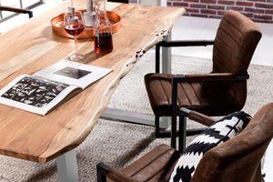 Sit Möbel SIT&CHAIRS Armlehnstuhl 2er Set Wildlederoptik | L 55 x B 57 x H 89 cm | braun / schwarz | 02497-30 | Serie SIT&CHAIRS
