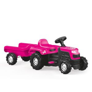 Siva Unicorn Traktor Kindertraktor mit Anhänger Kinderfahrzeug zum Treten