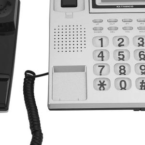 Mllaid Festnetztelefon, DTMF/FSK Dual System Kabelgebundenes Telefon Desktop Großtasten Schnurgebundenes Telefon für Zuhause, Hotel und Büro