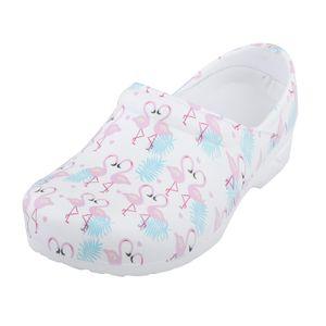 Krankenschwester Schuhe Flamingo Muster Casual Home House Slipper Sommer Strand Flacher Slip für Damen Arbeitskleidung Tägliche Schuhe Farbe 39