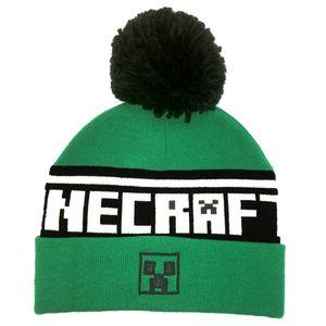 Minecraft Mütze Mit Bommel Creeper Logo Neu Cool