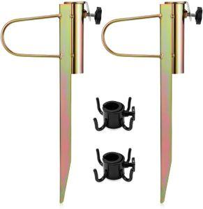 Dadanar Sonnenschirmhalter,2 Stück Erdspieß Sonnenschirm,Rasendorn für Sonnenschirme,Schirmständer Rasen für Regenschirmdurchmesser 20-32 mm
