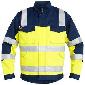 ENGEL Bundjacke Jacke Arbeitsjacke Warnschutzjacke gelb/marine Nr. 1601-420, Größe:XXXL
