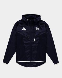 Playstation - Schwarz-Weiss TEQ - Kapuzen Jacke, Größe:Large