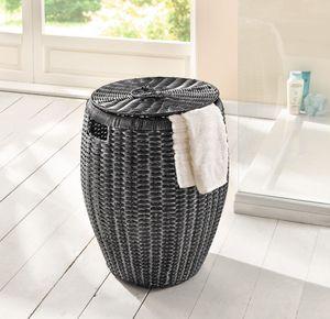 Wäschekorb Gekalkt, Maße Ø 45 x 52 cm