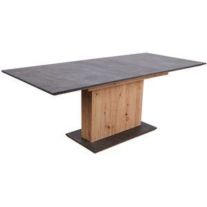 Esszimmertisch Küchentisch ausziehbar ca. 180 x 90 cm ANSGAR Artisan Eiche Nb. / Beton Grau