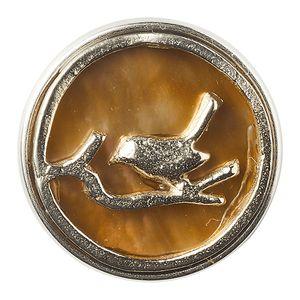 Noosa Chunk Nightingale Shell White Metal (gold)