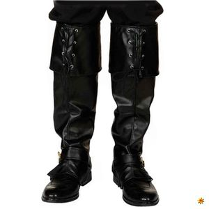 Gamaschen schwarz, Stiefelstulpen
