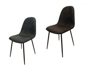 Kunstleder Polsterstuhl Schalenstuhl Esszimmerstuhl Küche Esszimmer Stuhl Stühle, Farbe:Grau