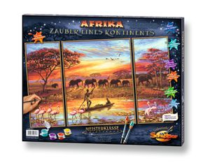 Noris Spiele Malen nach Zahlen - Afri-Zauber eines Konti (Triptych); 609260627