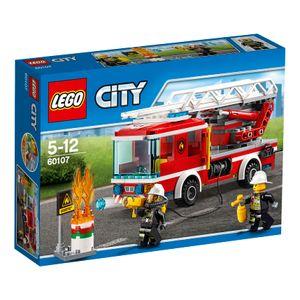 LEGO® City Feuerwehrfahrzeug mit fahrbarer Leiter 60107