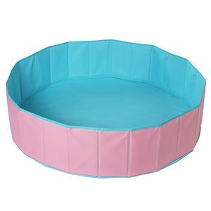 Kinder Bällebad Baby Bällepool Bälle Bad Ballebad für Kinder Bällchenbad ohne bälle, Pink+Blau, ø120cm