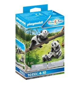 2 Pandas mit Baby