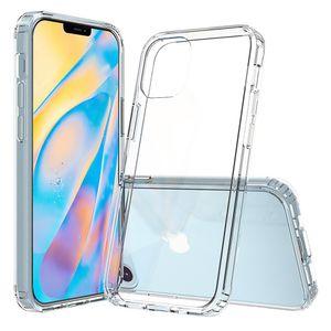 Apple iPhone 12 Mini Handy Hülle Hybrid Silikon Case Bumper Cover Klar