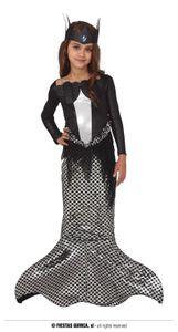 Fiestas Guirca kleid Kleid Meerjungfrau Mädchen schwarz/silber mt 10-12 Jahre alt