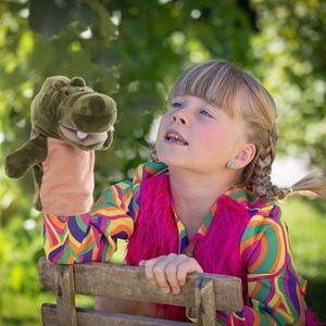 Cartoon Tiere Eltern-Kind Puzzle Plüsch Spielzeug Mund kann Marionette starten
