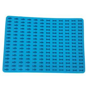 1pc Food Grade Silikon Back Matte für Hund Kekse Hund Behandelt Jelly Back Papier Farbe Blau