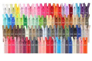 50 Reißverschlüsse spiral verdeckt, 20cm, unteilbar, unsichtbar, Farbe:Farbmix 50 Stk