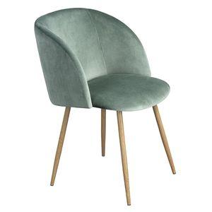 H.J WeDoo 1er Set Vintager Retro Stuhl Polstersessel Samt Lounge Sessel Clubsessel Fernsehsessel Grün