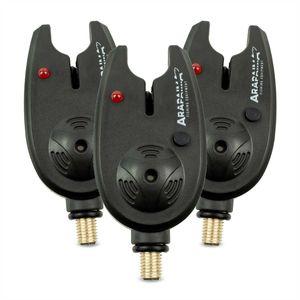Arapaima Fishing Equipment® elektronische Bissanzeiger 'basic' - Schwarz - 3 Stück