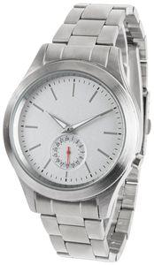 Funk-Armbanduhr, Edelstahl, mit Sekunden- und Tagesanzeige, Leuchtzeiger