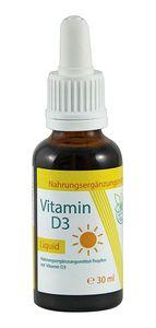 VITARAGNA® Vitamin D Tropfen flüssig, hochdosiertes Vitamin D3 Liquid mit 1000 I.E. je Tropfen, Vitamin-D3 Cholecalciferol in Kokosöl gelöst, Hohe Bioverfügbarkeit mit MCT-Öl und Vitamin-E - 30ml