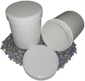 25 Salbenkruken Salbendose 100 g 125 ml Deckel weiß
