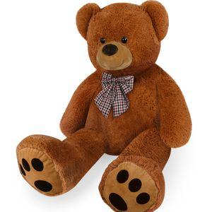 Teddybär L - XXXL 50-175cm Plüsch Kuschel Stoff Tier Riesen Teddy Bär Valentinstag Geschenk, Farbe:creme, Größe:100cm