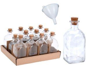 12x Apotheker Glas Flaschen 120ml inkl. Trichter Korkverschluss Korken Oelflaschen Glasflasche Leer