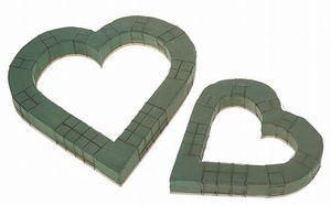 Steckmasse - Herz, offen, 40 cm, mit Draht-Gitter