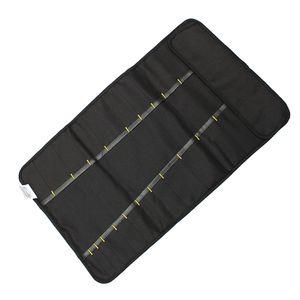 Schwarz Werkzeugrolltasche Koffer Werkzeug Tasche Rolltasche mit 22 Fächer Farbe Schwarz