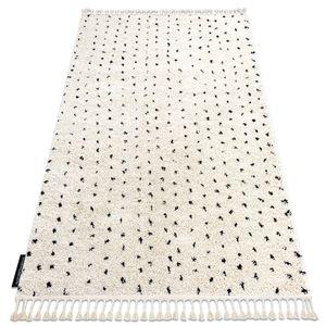 Teppich BERBER SYLA B752 Punkte sahne Franse berber marokkanisch shaggy creme 160x220 cm